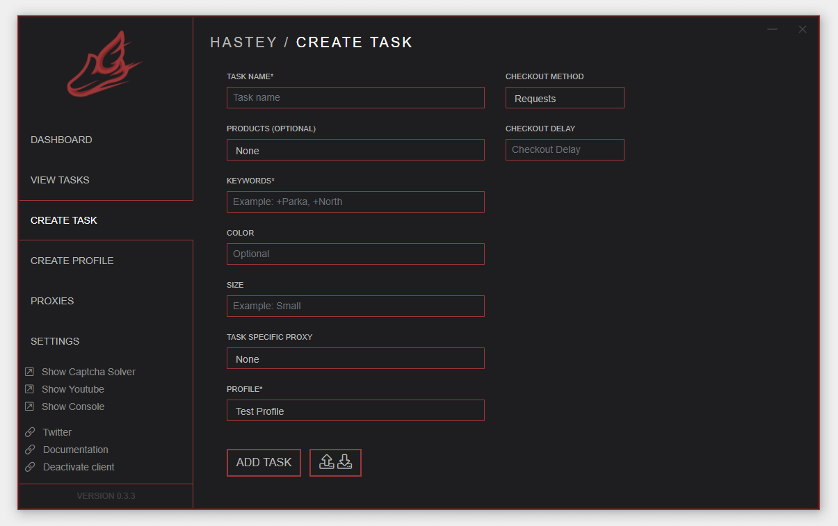 Hastey Interface