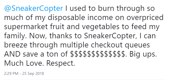 SneakerCopter Feedback