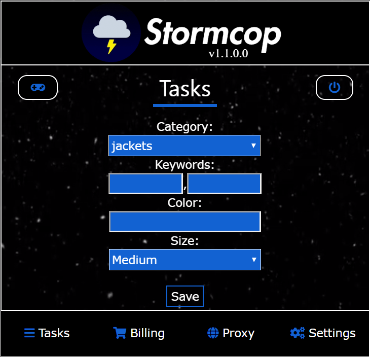 StormCop Interface
